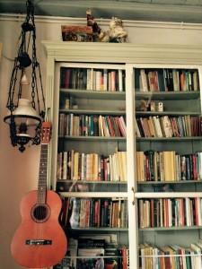 Bücher im Wohnraum