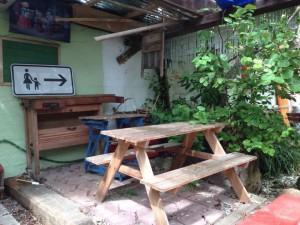 Spielecke im Garten